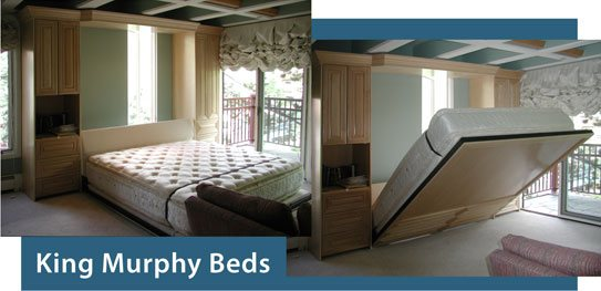 King size Murphy Bed : unique-king-beds - designwebi.com