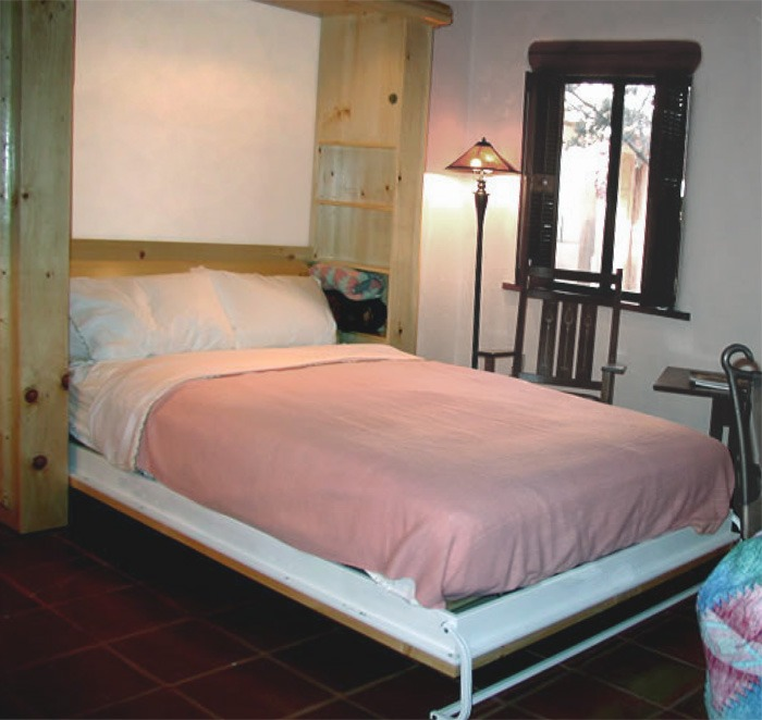 Exotic Wood Murphy Bed Colorado Lodge Pole By Flyingbeds