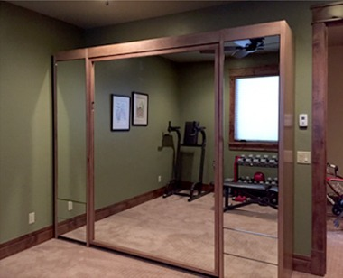 Mirrored Murphy Bed