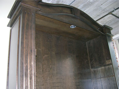 Gothic Armoire Murphy Bed installation