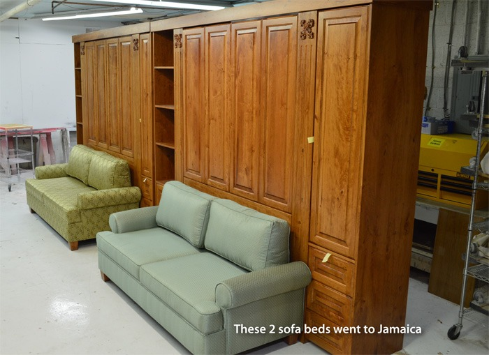 murphy bed sofa design for a jamaica home