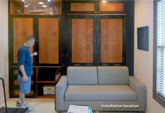 Installation of a murphy bed sofa by FlyingBeds