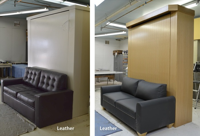 murphy bed sofa specialized design in leather options