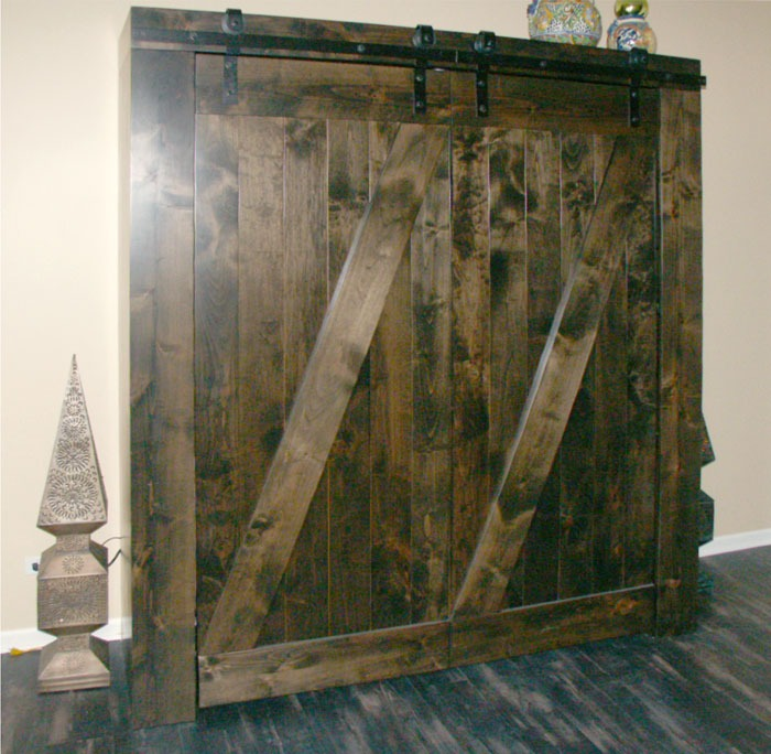 Custom Barn Door Murphy Beds By Flying Beds International