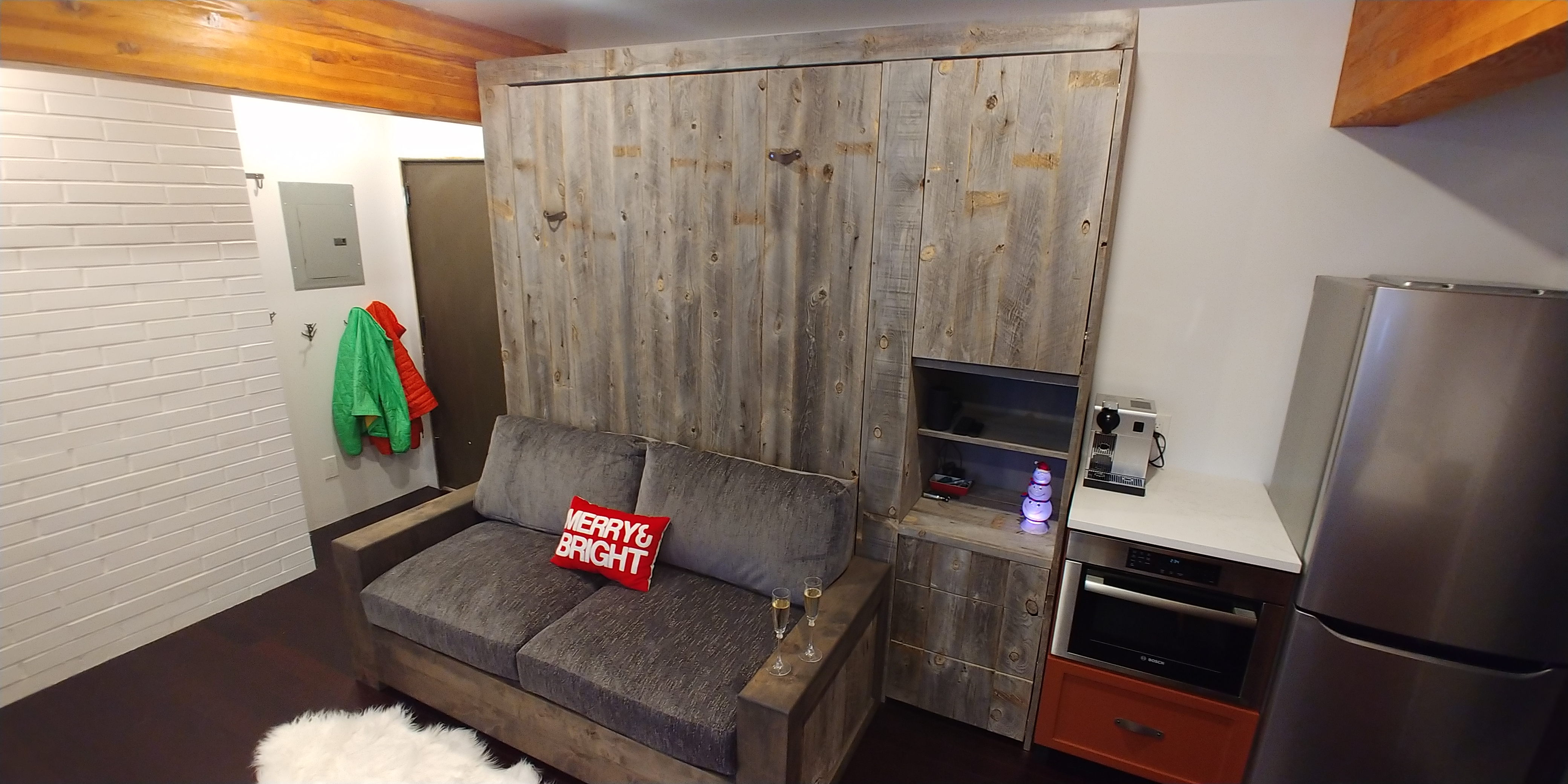 murphy bed with couch